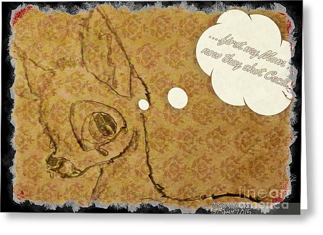 Ode To Cecil The Lion Greeting Card by John Malone