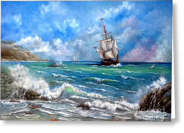 Pirates Greeting Cards - Odessa Greeting Card by Patrice Torrillo