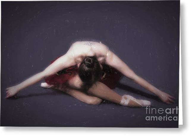 Ballet Dancers Greeting Cards - Odette  ... Greeting Card by Chuck Caramella