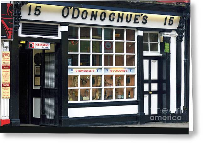 Photo Art Gallery Greeting Cards - ODonoghues Greeting Card by John Rizzuto