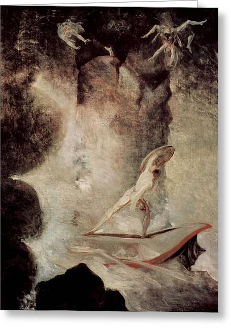 Henry Fuseli Greeting Cards - Odysseus in front of Scylla Greeting Card by Henry Fuseli