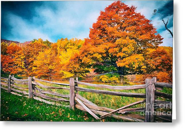Fall Photos Paintings Greeting Cards - Odyssey in Color II Greeting Card by Dan Carmichael