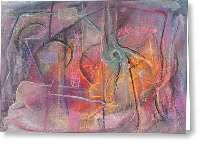 Abstract Expressionist Greeting Cards - Of a Special Substance Greeting Card by Tom Kecskemeti