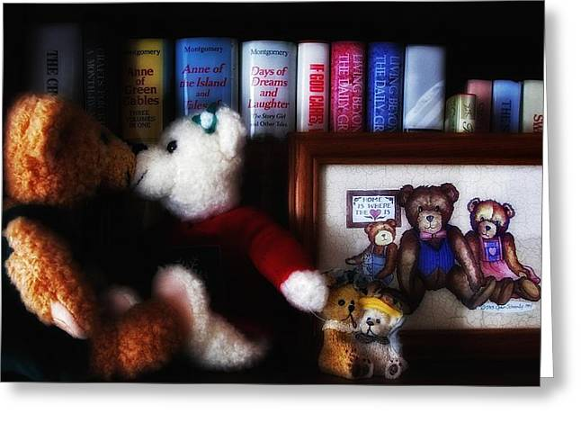 Barry Styles Greeting Cards - Of Books and Bears Greeting Card by Barry Styles