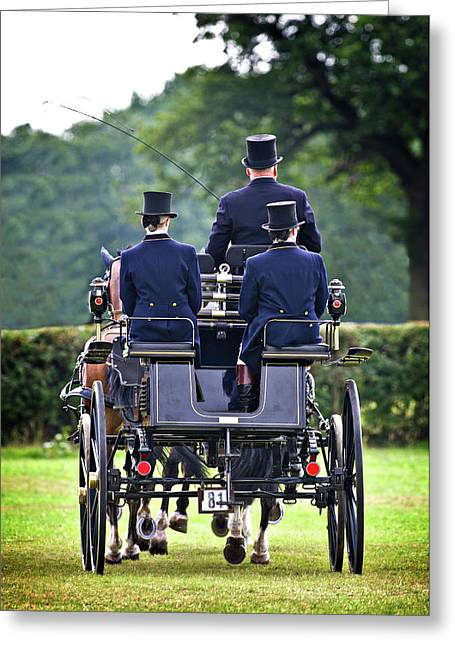 Carriage Greeting Cards - Of More Gentile Times Greeting Card by Meirion Matthias