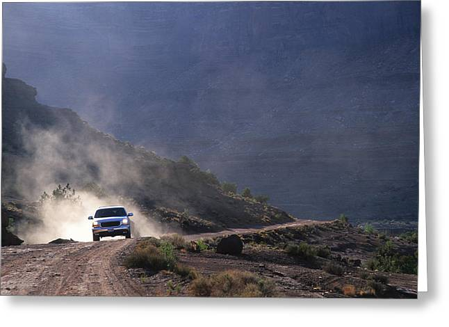 Four Wheel Greeting Cards - Off Road Enthusist On The White Rim Greeting Card by Bill Hatcher