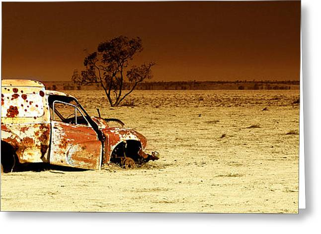 Drought Greeting Cards - Off Road Greeting Card by Holly Kempe