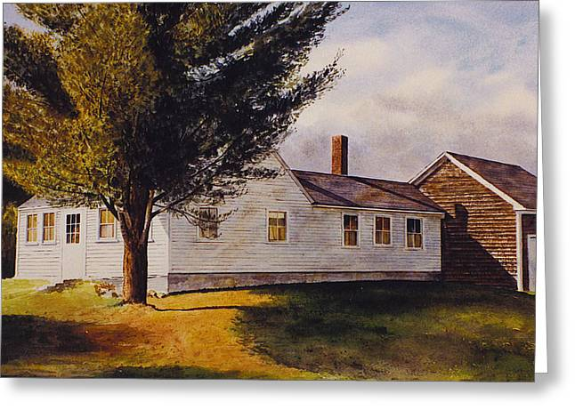 Maine Farmhouse Greeting Cards - Off Route 131 Greeting Card by Tyler Ryder
