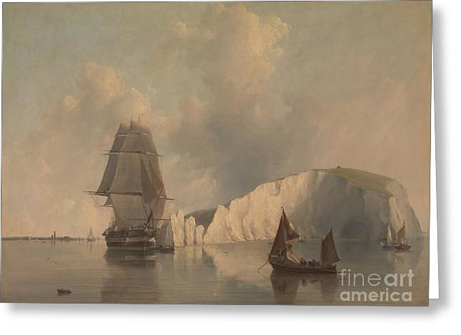 Cooke Greeting Cards - Off the Needles Isle of Wight Greeting Card by Celestial Images