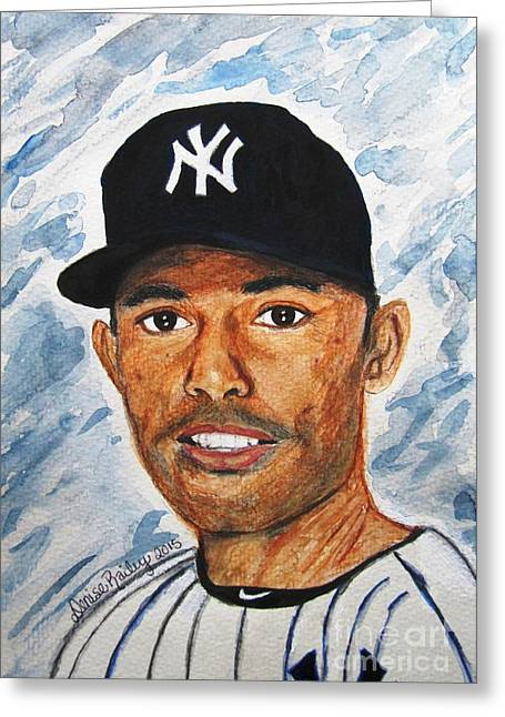 Mariano Rivera Greeting Cards - Off to Never-Never Land Greeting Card by Denise Railey