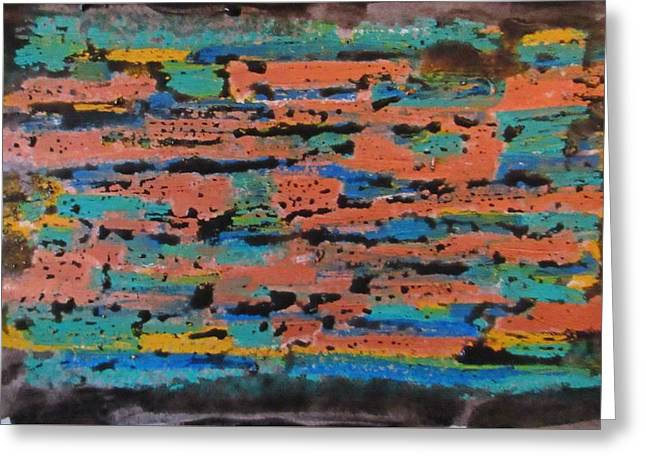 Office Abstraction Greeting Card by John Malone