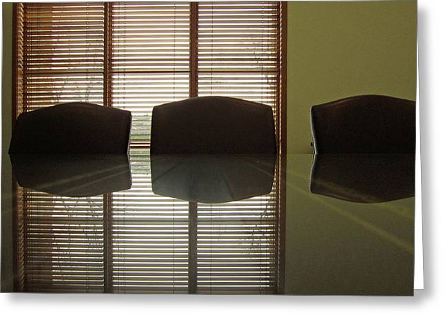 Office Reflection 3 Greeting Card by Mary Bedy