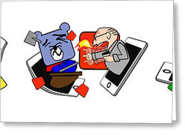 Cubicle Greeting Cards - Office Weekdays Emojis  Greeting Card by Sam Lea