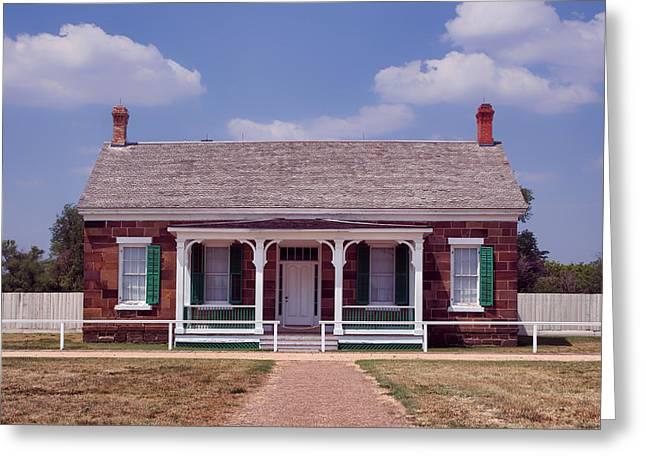 Officers Quarters - Fort Larned - Kansas Greeting Card by Nikolyn McDonald