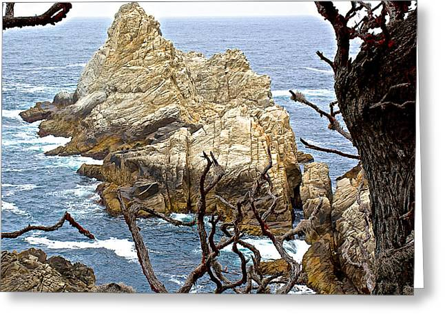 Offshore Rocks Greeting Cards - Offshore Rock in Point Lobos State Reserve near Monterey-California  Greeting Card by Ruth Hager