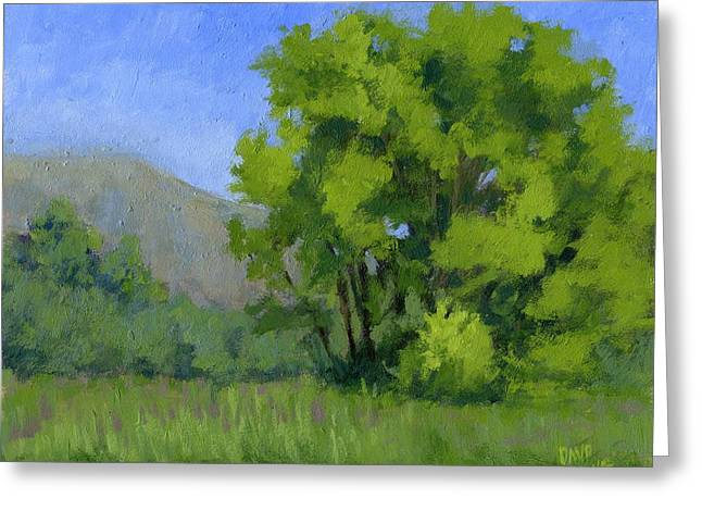 Impressionist Greeting Cards - Ogden Valley Meadow Greeting Card by David King