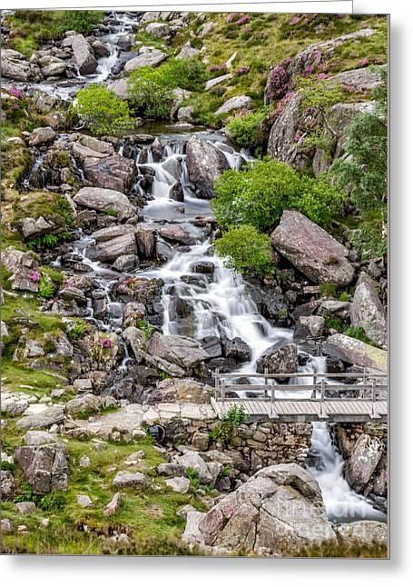 Brook Digital Greeting Cards - Ogwen Bridge Greeting Card by Adrian Evans