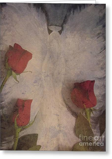 Enhanced Greeting Cards - Oh Beautiful Angel Have Mercy On Me Greeting Card by Adri Turner