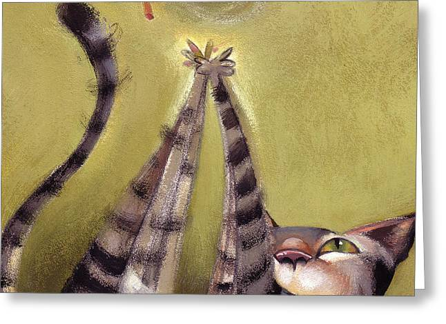 Feline Greeting Cards - Oh Boy Greeting Card by Barbara Hranilovich