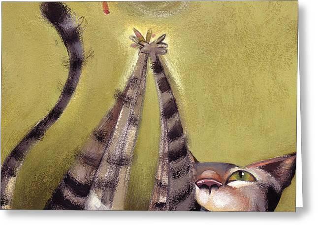 Whimsy Greeting Cards - Oh Boy Greeting Card by Barbara Hranilovich