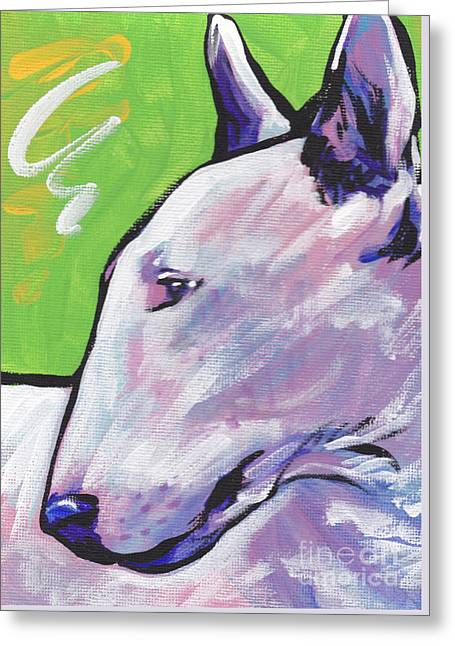Oh Bull Greeting Card by Lea S