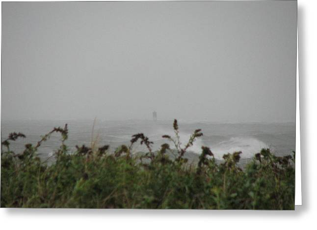 Best Sellers -  - Storm Clouds Cape Cod Greeting Cards - Oh Buoy Greeting Card by Brian Mazzoli