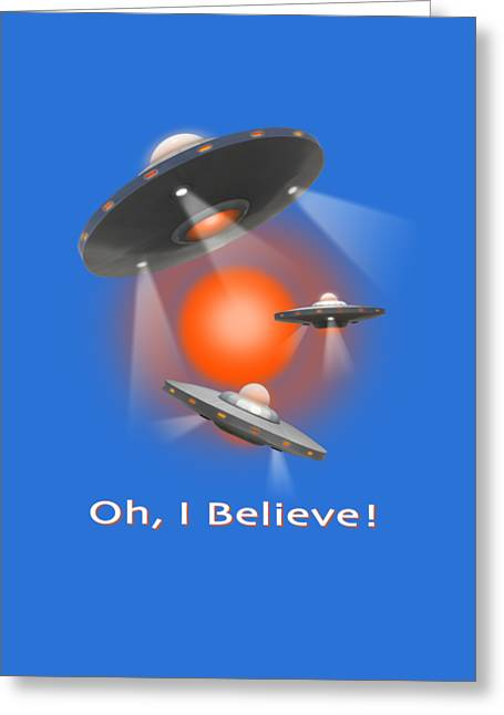 Shirt Digital Greeting Cards - Oh I Believe  SE Greeting Card by Mike McGlothlen