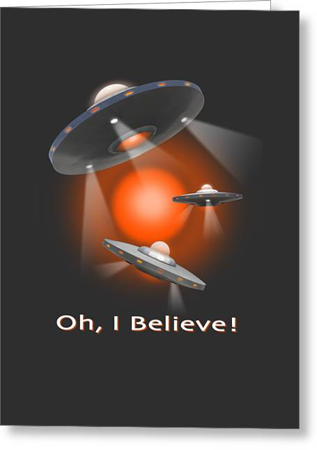 T Shirts Photographs Greeting Cards - Oh I Believe  SE Greeting Card by Mike McGlothlen
