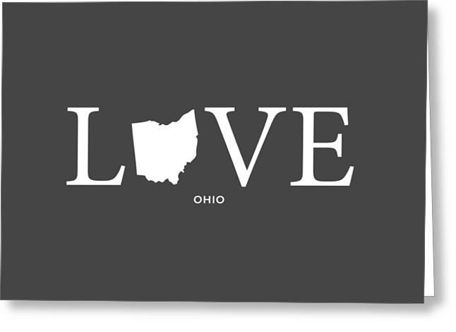 University Of Cincinnati Greeting Cards - OH Love Greeting Card by Nancy Ingersoll