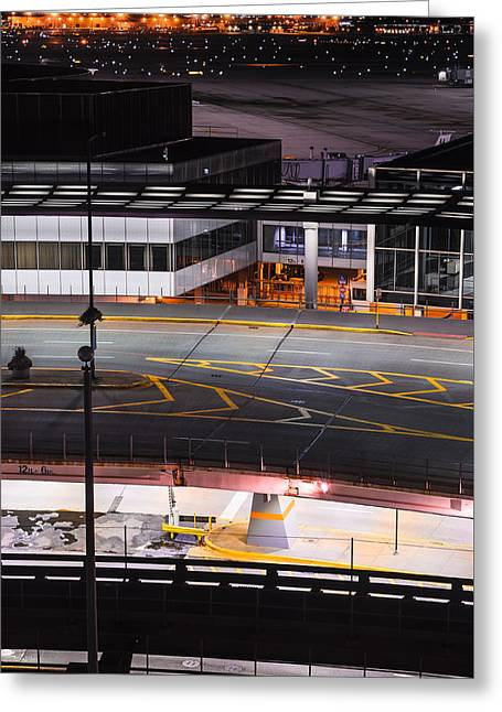 Streetlight Greeting Cards - Ohare Greeting Card by Spencer Cox