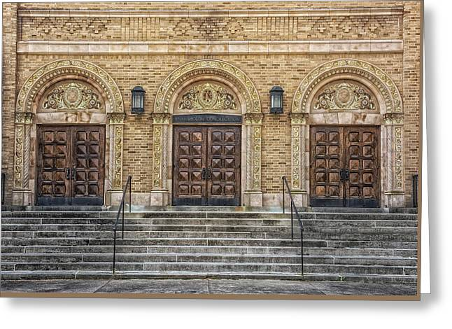 Temple West Greeting Cards - Ohev Sholom Temple - Huntington West Virginia Greeting Card by Mountain Dreams