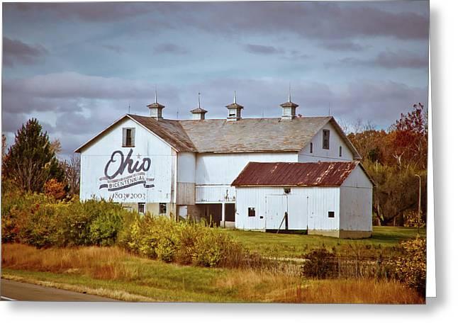 Ohio Bicentennial Barn Greeting Card by Linda Unger