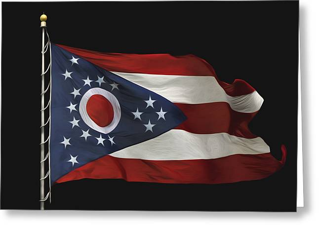 Ohio State Flag Greeting Card by Steven  Michael