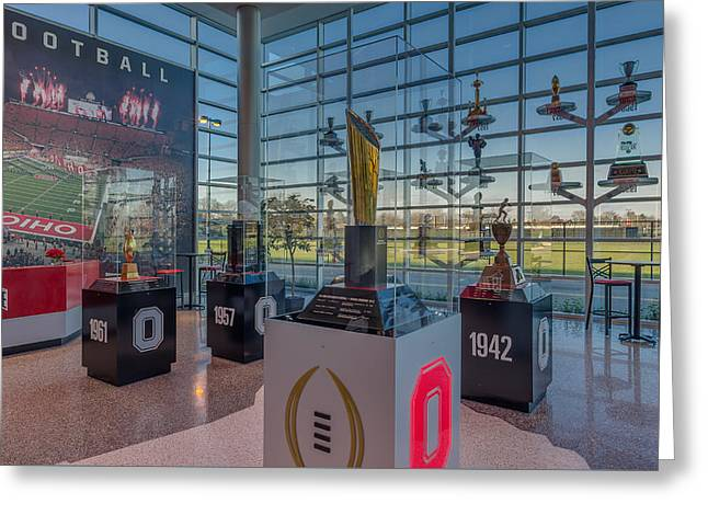Ohio State Football National Championship Trophy Greeting Card by Scott McGuire