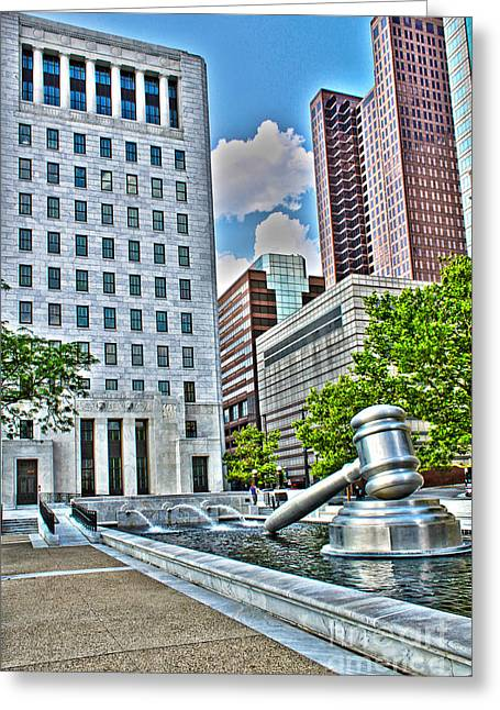 Stainless Steel Greeting Cards - Ohio Supreme Court Greeting Card by Jack Schultz