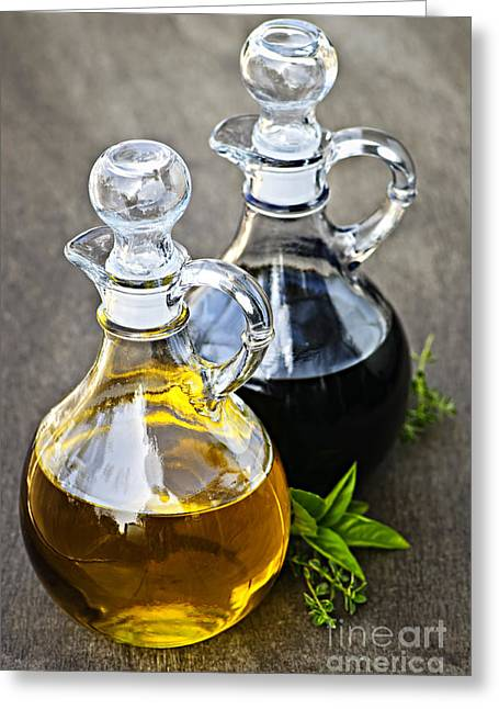 Salad Dressing Greeting Cards - Oil and vinegar Greeting Card by Elena Elisseeva
