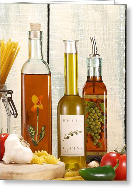 Vinegar Digital Greeting Cards - Oil and Vinegar Greeting Card by Gerry Wilson