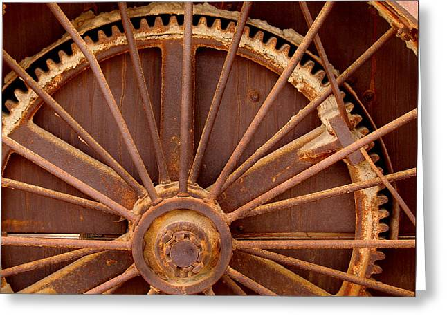 Oil Rig Wheel Greeting Card by Art Block Collections