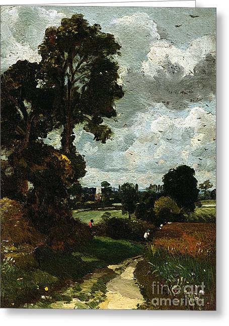 Oil Sketch Of Stoke-by-nayland Greeting Card by John Constable