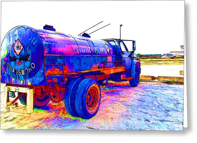Oil Tanker Truck Greeting Card by Lanjee Chee