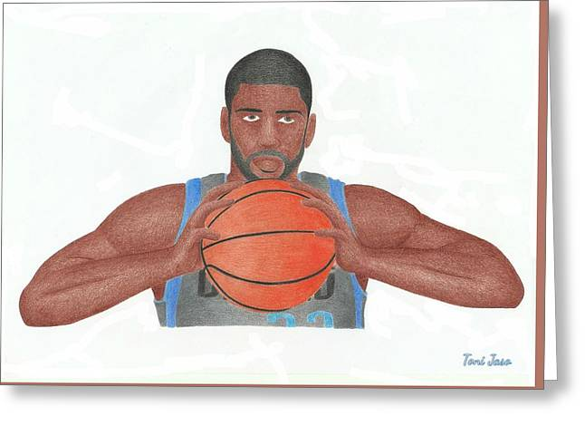 O.J Mayo Greeting Card by Toni Jaso