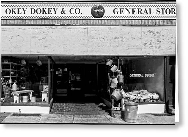 Hardware Greeting Cards - Okey Dokey General Store Greeting Card by Chris Flees