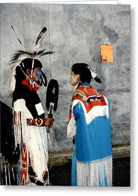 Childre Greeting Cards - Oklahoma Pow Wow Greeting Card by Lori  Secouler-Beaudry