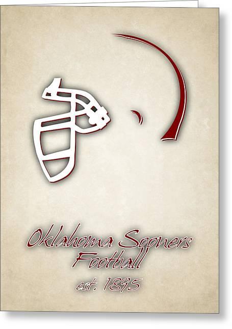 Oklahoma Sooners Helmet 2 Greeting Card by Joe Hamilton