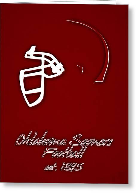 Oklahoma Sooners Helmet Greeting Card by Joe Hamilton