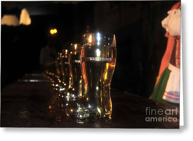 Stein Greeting Cards - Oktoberfest time Greeting Card by David Lee Thompson