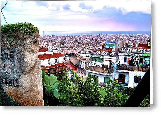 Recently Sold -  - Occupy Greeting Cards - Okupa y Resiste Barcelona Greeting Card by Jeff Stein