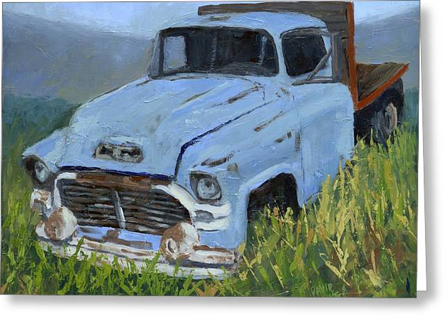 Dilapidated Paintings Greeting Cards - Ol Blue Greeting Card by David King