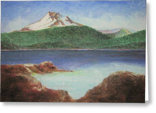 Sand Pastels Greeting Cards - Olallie Butte Greeting Card by Donald Aday