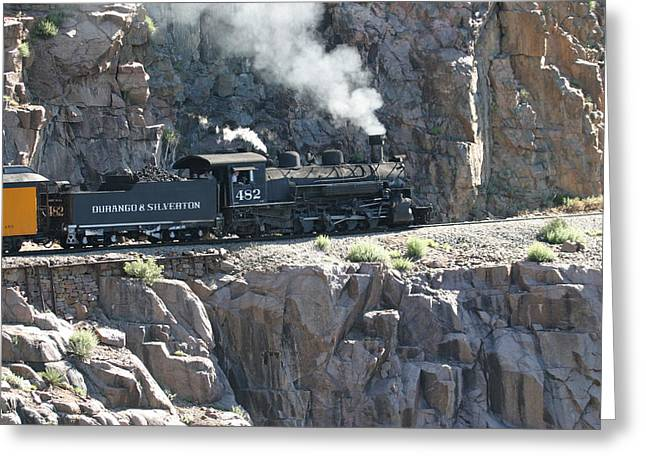 Framed Photograph Greeting Cards - Old 482 chugging to Silverton Greeting Card by Jack Pumphrey